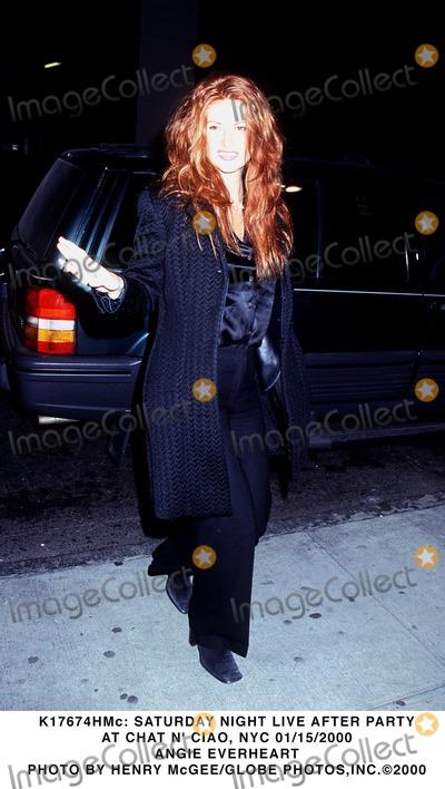 ANGIE EVERHEART Photo - : Saturday Night Live After Party at Chat N' Ciao, NYC 01/15/2000 Angie Everheart Photo by Henry Mcgee/Globe Photos,inc.