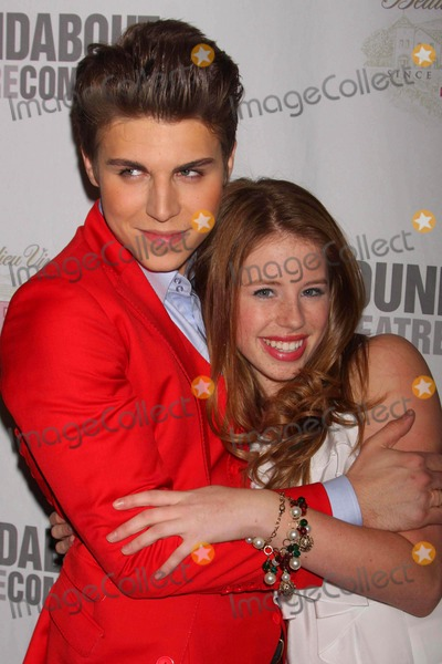 "Allie Trimm, Nolan Gerard Funk Photo - Nolan Gerard Funk and Allie Trimm Arriving at the Opening Night Party For the Roundabout Theatre Company's Production of ""by Bye Birdie"" at the Hard Rock Cafe Times Square in New York City on 10-15-2009. Photo by Henry Mcgee-Globe Photos, Inc. 2009."