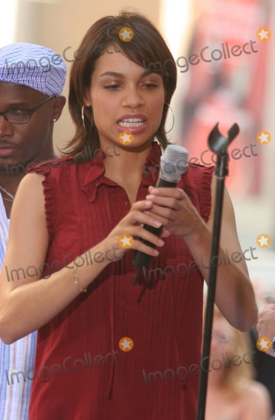 Rosario Dawson, The Cast Photo - New York, NY 8-4-2005Rosario Dawson performing with the cast of the movie RENT on The Today Show Toyota Concert Series in Rockefeller Center.Digital Photo by Lane Ericcson-PHOTOlink.org