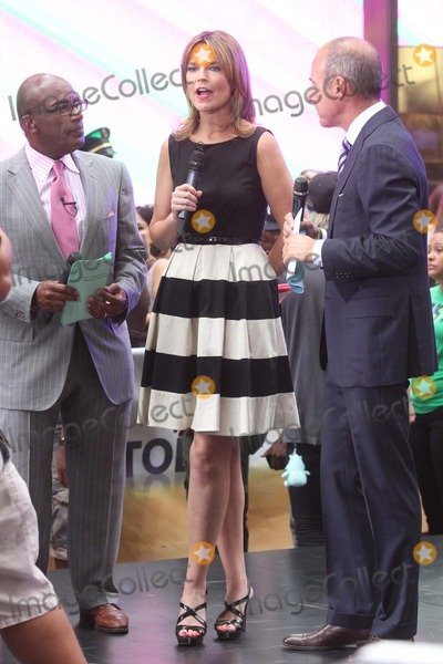 "Al Roker, Matt Lauer, Savannah Guthrie Photo - AL Roker, Savannah Guthrie and Matt Lauer on Nbc's ""Today"" Show Toyota Concert Series at Rockefeller Plaza in New York City on 08014-2012. Photo by Henry Mcgee-Globe Photos, Inc. 2012."