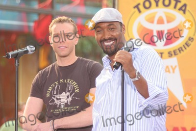 Adam Pascal, Jesse L Martin, Jesse L Martin, Jesse L. Martin, The Cast Photo - New York, NY 8-4-2005Adam Pascal and Jesse L. Martin performing with the cast of the movie RENT on The Today Show Toyota Concert Series in Rockefeller Center.Digital Photo by Lane Ericcson-PHOTOlink.org