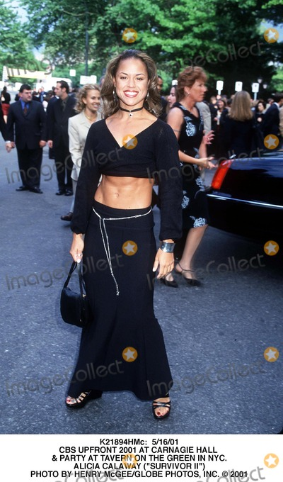 """Alicia Calaway Photo - : 5/16/01 Cbs Upfront 2001 at Carnagie Hall & Party at Tavern on the Green in NYC. Alicia Calaway (""""Survivor Ii"""") Photo by Henry Mcgee/Globe Photos, Inc."""