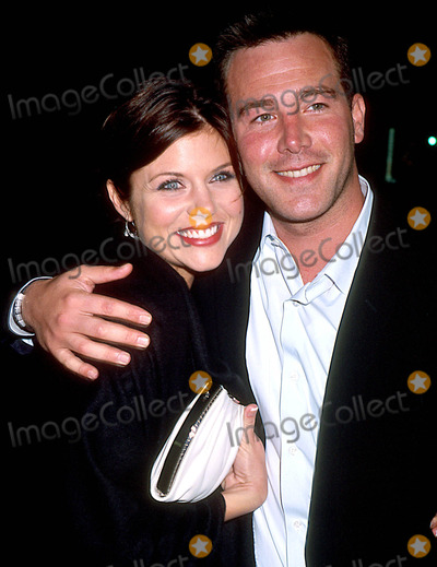 """Tiffani Thiessen, Tiffani Amber-Thiessen, Tiffani-Amber Thiessen, Tiffani Amber, Tiffany Photo - Sd0423 the """"Hollywood Ending"""" After Party in Eyebeam Atelier in New York City Tiffani Amber Thiessen and Fiance Photo By:henry Mcgee/Globe Photos, Inc"""
