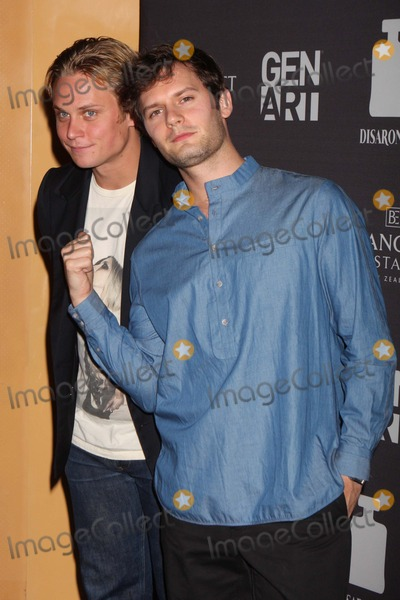"Hugo Becker, Billy Magnussen Photo - Billy Magnussen and Hugo Becker Arriving at the Gen Art Screening of ""Life Happens"" at the Visual Arts Theater in New York City on 08-15-2011. Photo by Henry Mcgee-Globe Photos, Inc. 2011."