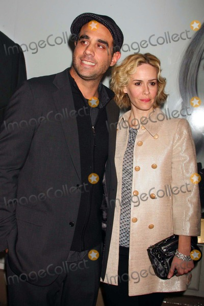 """Bobby Cannavale, Sarah Paulson Photo - Bobby Cannavale and Sarah Paulson Arriving the Opening Night Performance of """"God of Carnage at the Bernard B. Jacobs Theatre in New York City on 03-22-2009. Photo by Henry Mcgee-Globe Photos, Inc. 2009."""