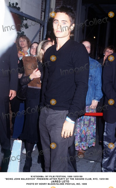 Jared Leto, John Malkovich Photo - : NY Film Festival 1999 Being John Malkovich Prem After Party at the Havard Club, NYC 10/01/1999 Jared Leto Photo by Henry Mcgee/Globe Photos,inc.