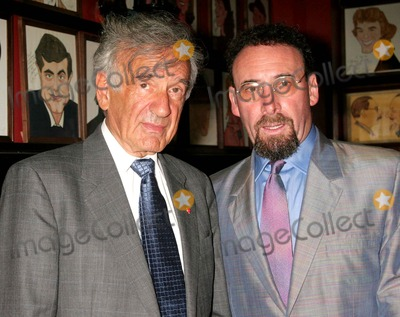 Elie Wiesel, Sir Antony Sher, ANTONY SHER Photo - Elie Wiesel and Sir Antony Sher at the Opening Night Party For the Broadway Production of Primo at Sardi's in New York City on 07-11-2005. Photo by Henry Mcgee/Globe Photos, Inc. 2005.
