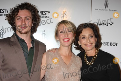 Aaron Johnson, Kristin Scott Thomas, Sam Taylor-Wood, Scott Thomas, Sam Taylor Photo - NYC  09/21/10