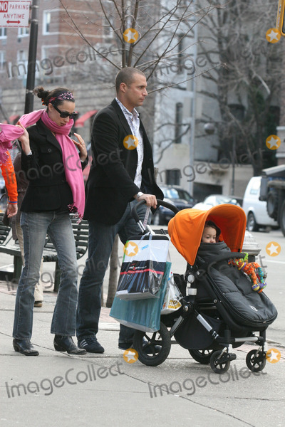 """Nigel Barker, Cristen Chin, Jackée Photo - NYC  03/03/07EXCLUSIVE:  Fashion photographer Nigel Barker (a judge on """"America's Next Top Model"""") with wife Cristen Chin and son Jack walking home after shopping and having lunch at an outddor cafe on a warm winter dayDigital Photo by Adam Nemser-PHOTOlink.net"""