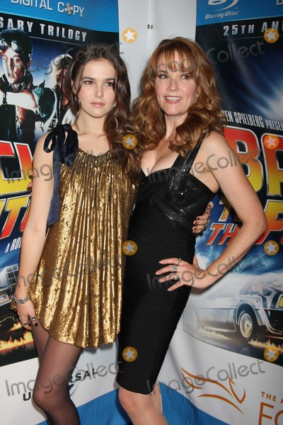 """Lea Thompson, Zoey Deutch Photo - NYC  10/25/10Lea Thompson and daughter Zoey Deutch (15 years old) at the worldwide launch event celebrating the 25th Anniversary of the """"Back to the Future"""" Trilogy and the Blu-ray and DVD release, at GuastavinosPhoto by Adam Nemser-PHOTOlink.net"""