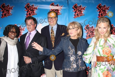 """Barbara Walters, Douglas Carter Beane, Elisabeth Hasselbeck, Sylvester Stallone, Whoopi Goldberg, Whoopie Goldberg Photo - New York City 20th April 2011Whoopi Goldberg, Sylvester Stallone, Barbara Walters, Elisabeth Hasselbeck, and Douglas Carter Beane at opening night of """"Sister Act"""" on Broadway  at The Broadway TheatrePhoto by Adam Nemser-PHOTOlink.net"""