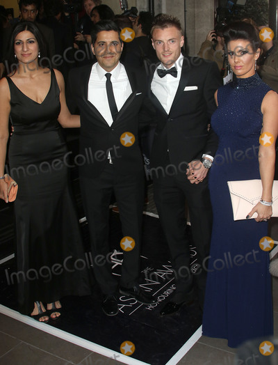 Jamie Vardy Photo - April 8, 2016 - Anushka Bhasin, Manish Bhasin, Jamie Vardy and fiancee Becky Nicholson attending The Asian Awards 2016, Grosvenor House Hotel in London, UK.