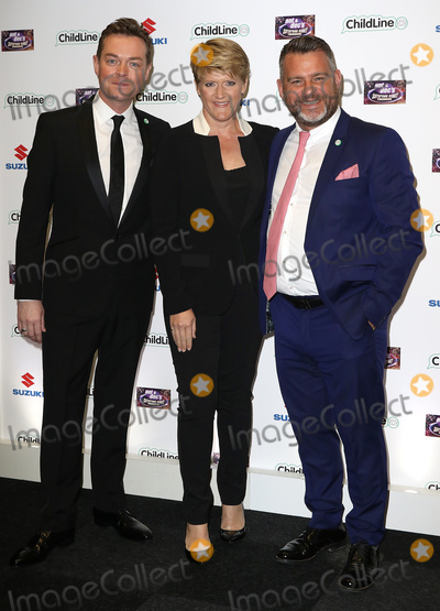 Andy Collins, Ant & Dec, Stephen Mulhern, Clare Balding Photo - Oct 01, 2015 - London, England, UK - Stephen Mulhern, Clare Balding and Andy Collins attending Ant & Dec's Saturday Night Takeaway ChildLine Ball, Old Billingsgate