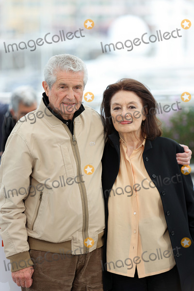 """Anouk Aimee, Claude Lelouch, Claude Lelouche Photo - CANNES, FRANCE - MAY 19: Anouk Aimee and Director Claude Lelouch attend the photocall for """"The Best Years of a Life (Les Plus Belles Annees D'Une Vie)"""" during the 72nd annual Cannes Film Festival on May 19, 2019 in Cannes, France.  (Photo by Laurent Koffel/ImageCollect.com)"""