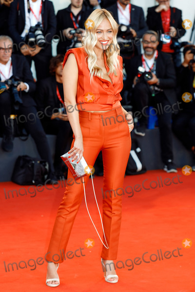 """Photo - VENICE, ITALY - SEPTEMBER 4: Renata Langmannova walks the red carpet ahead of the """"Lan Xin Da Ju Yuan"""" (Saturday Fiction) screening during the 76th Venice Film Festival at Sala Grande on September 04, 2019 in Venice, Italy.(Photo by Laurent Koffel/ImageCollect.com)"""