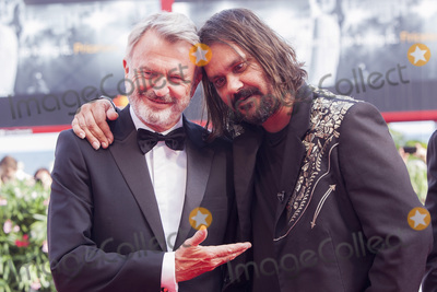 Sam Neill, The Sweet, Warwick Thornton Photo - VENICE, ITALY - SEPTEMBER 06: Sam Neill and Warwick Thornton walk the red carpet ahead of the 'Sweet Country' screening during the 74th Venice Film Festival at Sala Grande on September 6, 2017 in Venice, Italy.(Photo by Laurent Koffel/ImageCollect.com)