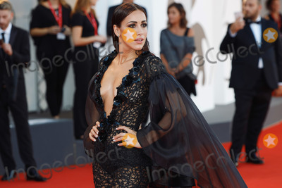 "Photo - VENICE, ITALY - SEPTEMBER 4: Teresanna Pugliese walks the red carpet ahead of the ""Lan Xin Da Ju Yuan"" (Saturday Fiction) screening during the 76th Venice Film Festival at Sala Grande on September 04, 2019 in Venice, Italy.