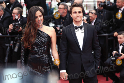 """Anouchka Delon Photo - CANNES, FRANCE - MAY 19: Julien Dereins and Anouchka Delon attends the screening of """"A Hidden Life (Une Vie Cache)"""" during the 72nd annual Cannes Film Festival on May 19, 2019 in Cannes, France.  (Photo by Laurent Koffel/ImageCollect.com)"""