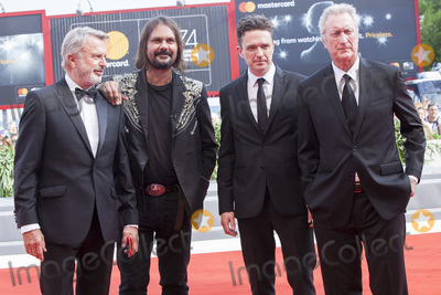 Bryan Brown, Sam Neill, The Sweet, Warwick Thornton Photo - VENICE, ITALY - SEPTEMBER 06: Sam Neill, Warwick Thornton, Matt Day and Bryan Brown walk the red carpet ahead of the 'Sweet Country' screening during the 74th Venice Film Festival at Sala Grande on September 6, 2017 in Venice, Italy.(Photo by Laurent Koffel/ImageCollect.com)