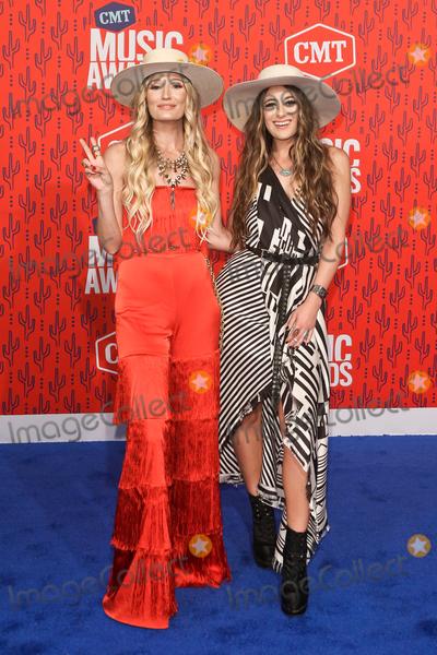 Alyssa Bonagura, RUBY STEWART Photo - NASHVILLE - JUNE 5: Ruby Stewart (L) and Alyssa Bonagura of the Sisterhood Band attend the 2019 CMT Music Awards at Bridgestone Arena on June 5, 2019 in Nashville, Tennessee.