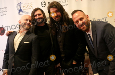 Adam Lazzara, Shaun Cooper, Taking Back Sunday Photo - WESTBURY, NY - NOV 8: (L-R) Shaun Cooper, John Nolan, Adam Lazzara and Mark O'Connell of Taking Back Sunday attend the 2018 Long Island Music Hall of Fame induction ceremony at The Space at Westbury on November 8, 2018 in Westbury, New York.