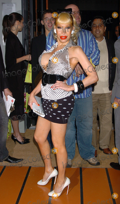 AMANDA LAPORE, The Used, Thomas Heatherwick Photo - May 23 2006, New York City      Amanda Lapore arriving at the opening of the 100th Longchamp store which is to be the US Flagship store, on Spring Street in Soho, Manhattan. The store was designed by acclaimed london architect Thomas Heatherwick.