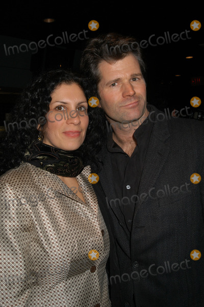 Andre Dubus III Photo - Author Andre Dubus III and wife Fontaine arrive at the Dreamworks film premiere of 'House of sand and fog' in New York City. December 05 2003.