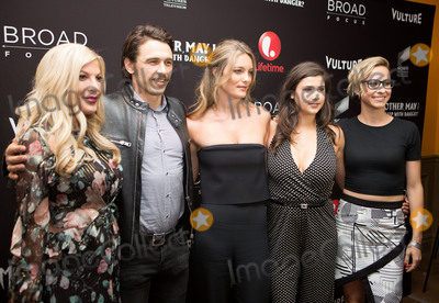 James Franco, Tori Spelling, Leila George, Amber Coney Photo -   June 7 2016, New York City  Tori Spelling, James Franco, Leila George, Amber Coney and Melanie Aitkenhead arriving at the New York screening of  'Mother, May I Sleep With Danger?' at the Crosby Street Theater on June 7, 2016 in New York City.  By Line: Serena Xu/ACE Pictures   ACE Pictures, Inc. tel: 646 769 0430