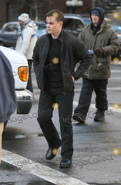 Matt Damon Photo - Matt Damon on the movie set of 'The Bourne Ultimatum'.