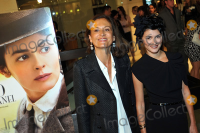 Anne Fontaine, Audrey Tautou, Coco Photo - Director Anne Fontaine (L) and actress Audrey Tautou (R) at the premiere of the Sony Pictures movie 'Coco Before Chanel' at the Silver Screen theatre in Los Angeles on September 9 2009.