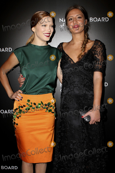 La Seydoux, Adle Exarchopoulos, King Sunny Adé Photo - January 7, 2014. New York City  La Seydoux and Adle Exarchopoulos arriving at the 2014 National Board Of Review Awards Gala at Cipriani 42nd Street on January 7, 2014 in New York City.