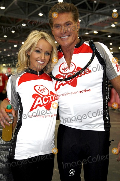 David Hasselhoff, The Virgins, Hayley Roberts Photo - September 22 2012, New York City  David Hasselhoff and Hayley Roberts at the Virgin Active London Triathlon at ExCel on September 22 2012 in London