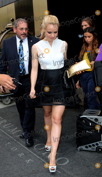 Amanda Schull Photo - May 15 2014, New York City  Amanda Schull leaves the Trump Soho hotel on the way to the NBCUniversal Cable Entertainment Upfront - 2014  on May 15, 2014 in New York City.