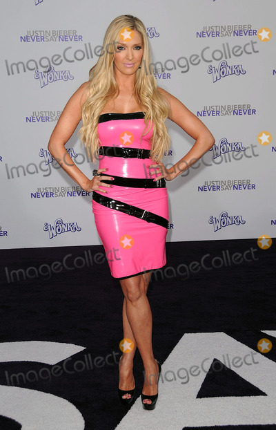 Erika Jayne, Justin Bieber Photo - Singer/dancer Erika Jayne arriving at the premiere of 'Justin Bieber: Never Say Never' at the Nokia Theater L.A. Live on February 8, 2011 in Los Angeles,