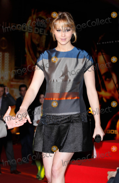 Jennifer Lawrence Photo - Actress Jennifer Lawrence promotes 'The hunger Games' on March 26 2012 in Madrid