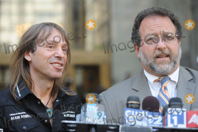 Spiderman, Alain Robert Photo - French stuntman Alain Robert, aka Spiderman', and his lawyer Daniel Arshack speak at a press conference outside a Manhattan court.