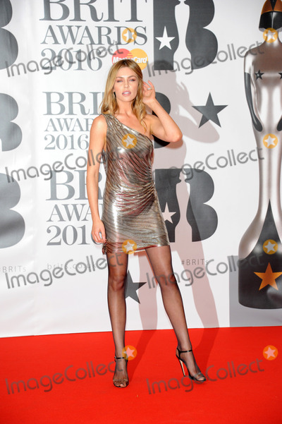 Abbie Clancey, Abbi Clancey Photo -   February 24 2016, London  Abbie Clancey arriving at the BRIT Awards 2016 at The O2 Arena on February 24, 2016 in London, England.  By Line: Famous/ACE Pictures   ACE Pictures, Inc. tel: 646 769 0430