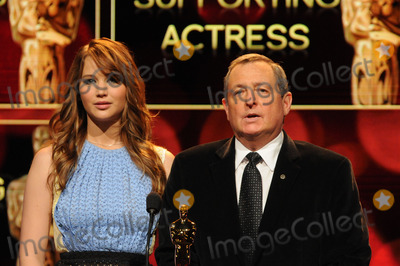 Samuel Goldwyn, Tom Sherak, Jennifer Lawrence Photo - Actress Jennifer Lawrence (L) and Academy of Motion Picture Arts and Sciences President Tom Sherak announce the 84th Academy Awards nominations at the Academy of Motion Picture Arts and Sciences Samuel Goldwyn Theater on January 24, 2012 in Los Angeles, California.