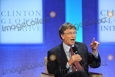Bill Gates, THE CLINTONS Photo - Bill Gates  speaks at the Clinton Global Initiative annual meeting in New York  on September 23, 2010 in New York City
