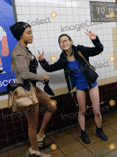 Day One Photo -   January 10, 2016 New York City  New Yorkers celebrate the annual 'no pants day' on January 10 2016 in New York City.   Please byline: Curtis Means/ACE Pictures  ACE Pictures, Inc. ,  Tel: 646 769 0430