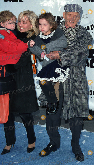 "Tony Randall Photo - Actor TONY RANDALL with his wife HEATHER HARLAN and kids attend the world premiere of ""Ice Age"" at the Radio City Music Hall in New York. March 10, 2002.  2002 by Alecsey Boldeskul/NY Photo Press.     *PAY-PER-USE*          NY Photo Press:    phone (646) 267-6913;     e-mail: infocopyrightnyphotopress.com"
