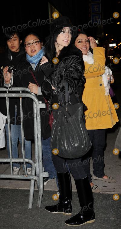 Ashlee Simpson, Ashlee Simpson Wentz, Ashlee Simpson-Wentz Photo - Actress Ashlee Simpson Wentz leave a theatre in Manhattan on December 8 2009 in New York City