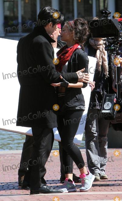 Alpay, David Alpay, Natalie Mendoza Photo - April 3 2012, New York City  Actors David Alpay and Natalie Mendoza on the Central Park set of the TV show 'Americana' on April 3 2012 in New York City
