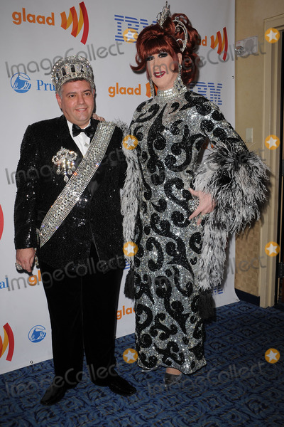 ANNE TIQUE Photo - Emperor Tony Monteleone and Empress Anne Tique of the Imperial Court of New York arriving at the 21st Annual GLAAD Media Awards at The New York Marriott Marquis on March 13, 2010 in New York City.