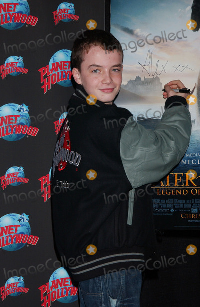 AXEL ETEL, Alex Etel Photo - Actor Alex Etel donates memorabilia from The Water Horse: Legend of the Deep to Planet Hollywood in Times Square
