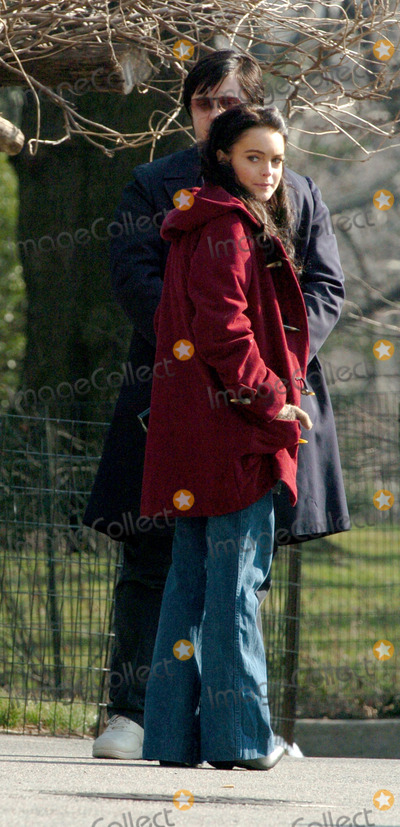"""Jared Leto, Lindsay Lohan Photo - Lindsay Lohan and Jared Leto on Location for """"Chapter 27"""" in New York."""