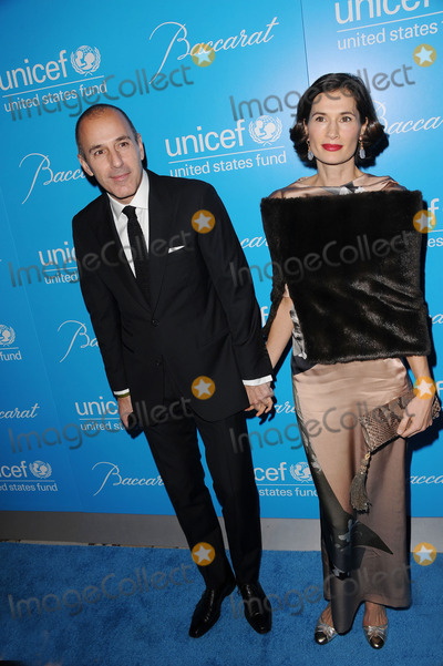 Matt Lauer, Annette Lauer Photo - November 27, 2012. New York City. Matt Lauer and Annette Lauer attend the Unicef Snowflake Ball at Cipriani 42nd Street on November 27, 2012 in New York City.