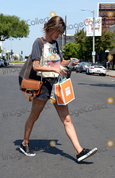Alessandra Ambrossio, AC/DC, Alessandra Ambrosio Photo -   June 21 2016, LA  Model Alessandra Ambrosio wears an AC/DC shirt and short shorts as she goes shopping on June 21 2016 in LA  By Line: Solar/ACE Pictures  ACE Pictures Inc Tel: 6467670430