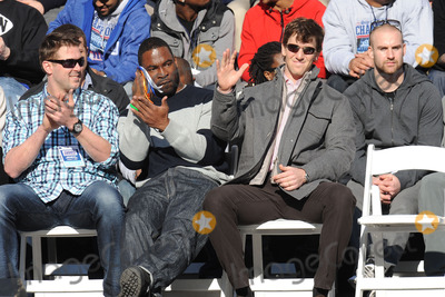 Eli Manning, Justin Tuck Photo - February 7, 2012. New York City.  Justin Tuck and Eli Manning attend the Giants' Victory Parade for Super Bowl XLVI on February 7, 2012 in New York City.