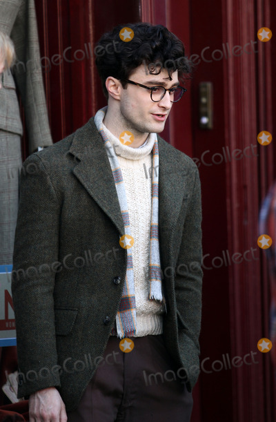Daniel Radcliffe, Daniel Radcliff, Allen Ginsberg Photo - Actor Daniel Radcliffe plays Beat Poet Allen Ginsberg on the Brooklyn set of the new movie 'Kill Your Darlings' on March 19 2012 in New York City